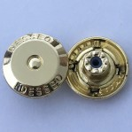Factory customized 17mm hanging plating fix jean button with rubber core