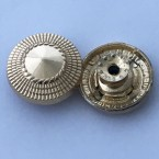 Factory wholesale Spires shaped move metal button for denim 20mm