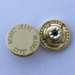 Metal button factory wholesale 20mm jeans buttons with leg