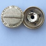 10 years factory wholesale golden 20mm move button for jeans accept OEM