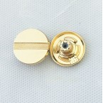 China supplier wholesale personalized crafts decorative round  alloy jeans fabric metal button