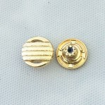 Factory Direct Custom Design Raised Logo Antique Gold Metal Jeans Button for Clothes
