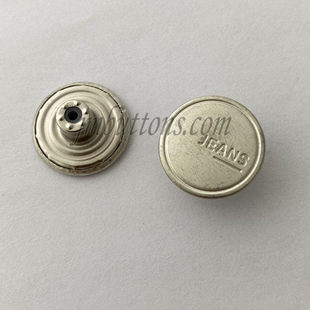 Brass Silver Jeans Buttons with W//O Hand Tool Clothing Repairing Jackets 17mm