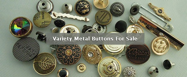 Variety Metal Buttons For Sale