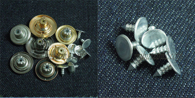 17mm 20mm 22mm Gun Zinc Alloy Fix Denim Buttons Shop